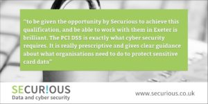 Securious congratulates their new PCI QSA