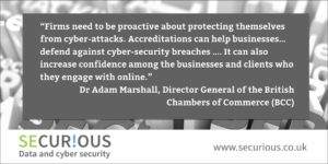 21% of businesses believe the threat of cyber-crime is preventing their company growing.